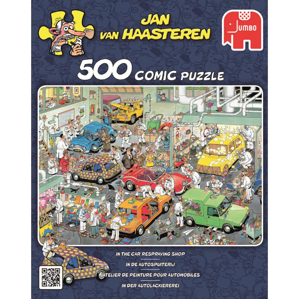 Jumbo Jan van Haasteren puzzel Autospuiterij - 500 stukjes