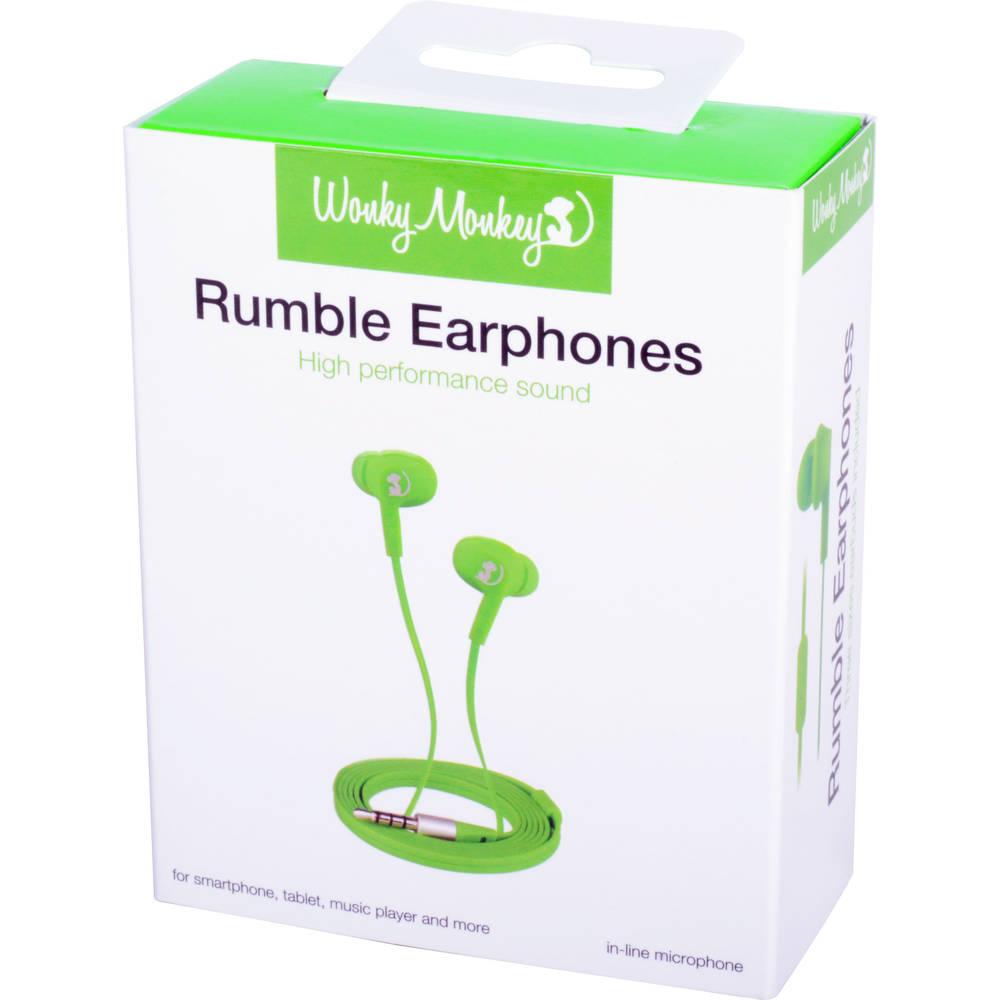 Wonky Monkey in-ear oordopjes - groen
