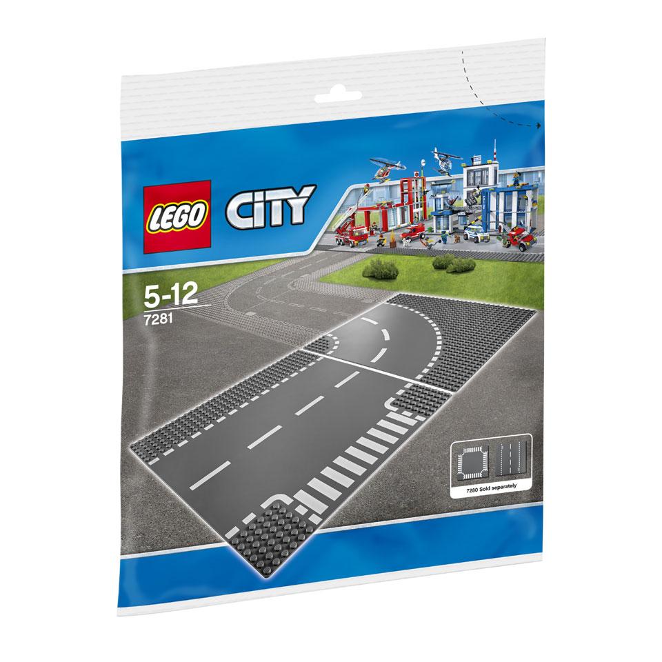 LEGO City T-kruising en bocht 7281