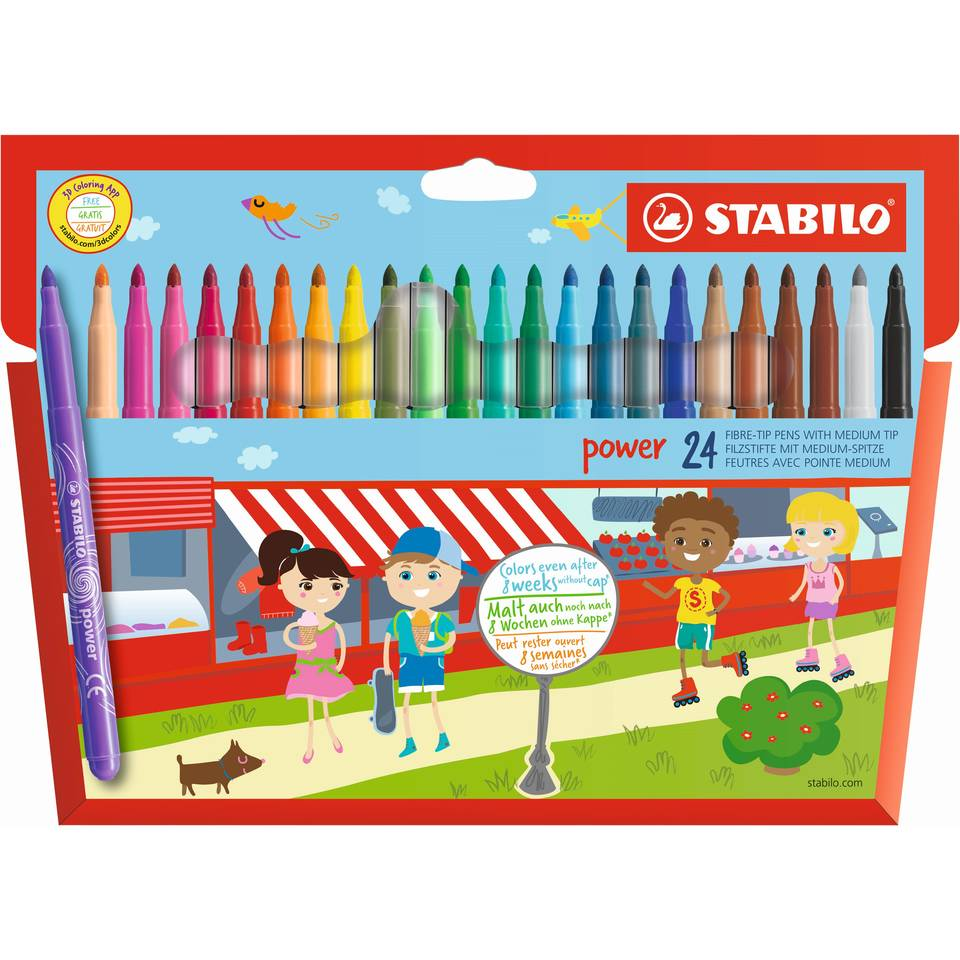 STABILO Power viltstiften - 24 stuks