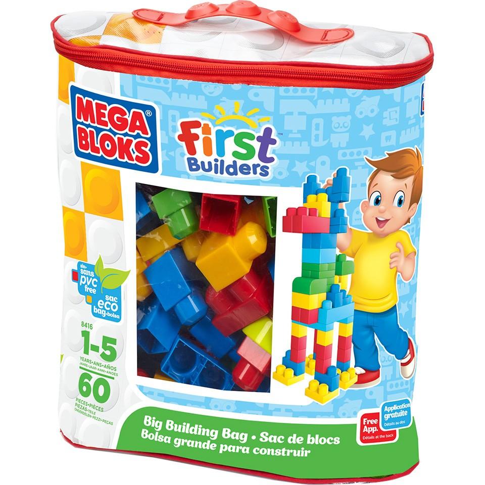 Mega Bloks First Builders blokkenzak - 60 stuks