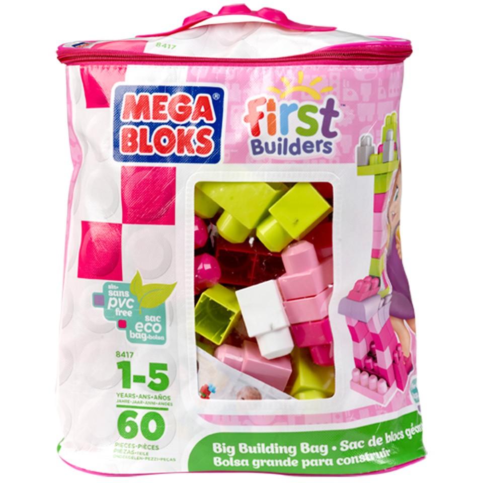 Mega Bloks First Builders blokkenzak - 60 stuks - roze