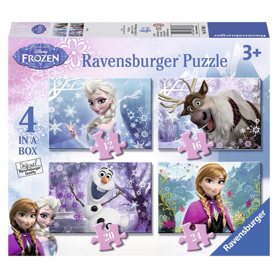 Ravensburger Disney Frozen puzzelset - 12 + 16 + 20 + 24 stukjes