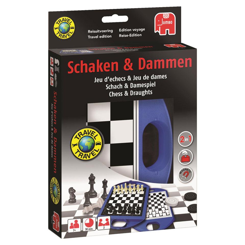Jumbo schaken & dammen reisspel