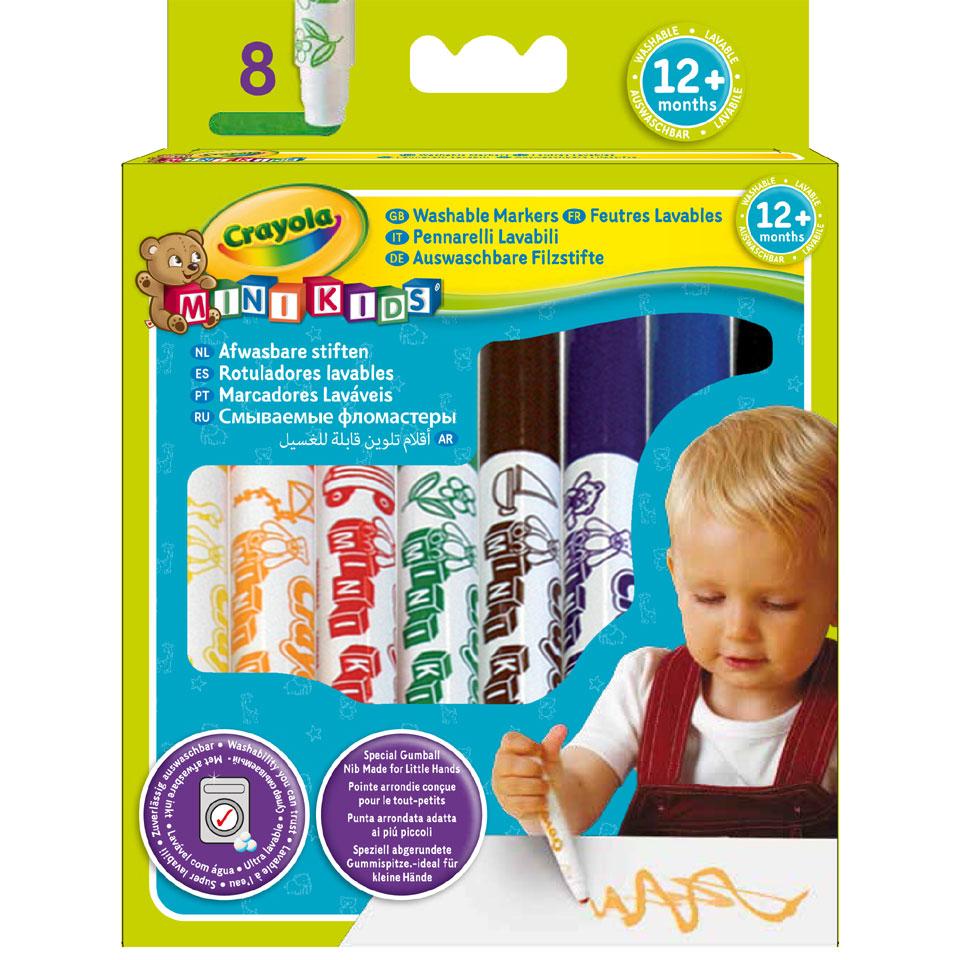 Crayola Mini Kids viltstiften met bolle punt - 8 stuks