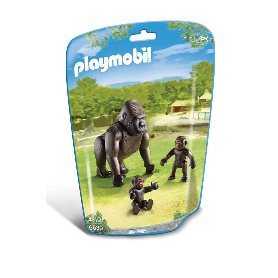PLAYMOBIL gorilla met baby's 6639