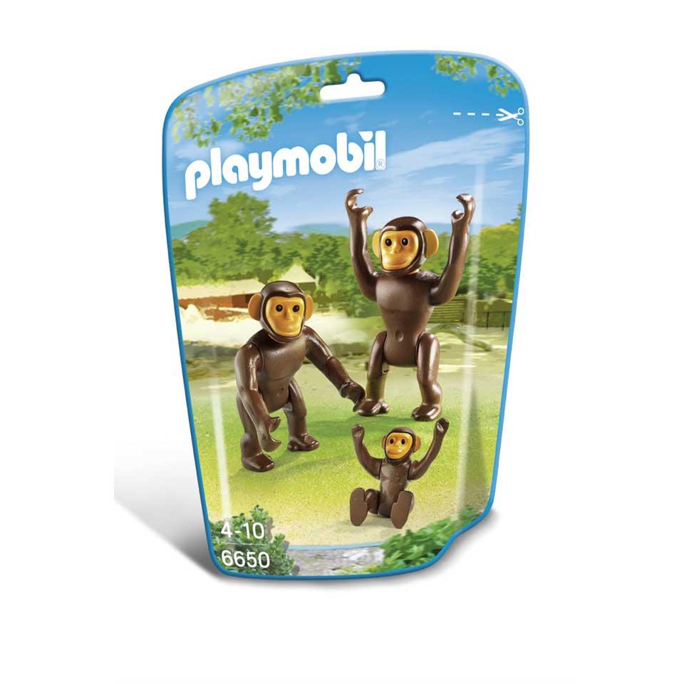 PLAYMOBIL chimpansees met baby 6650