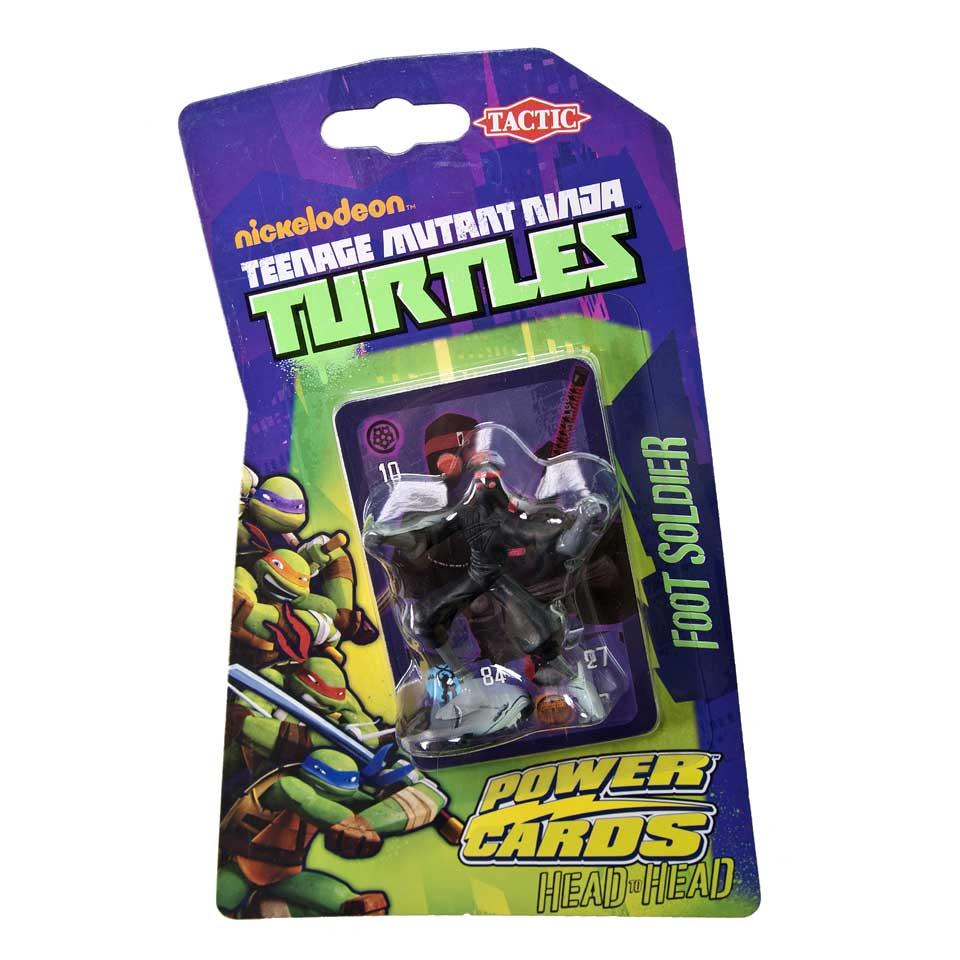 Tactic Teenage Mutant Ninja Turtles Power Cards Incl. Foot Soldier Figure Kaartspel