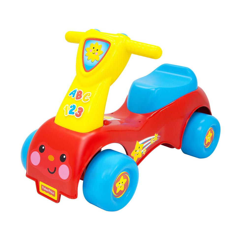 Fisher-Price loopwagen Lil' Scoot 'n Ride - rood/blauw/geel
