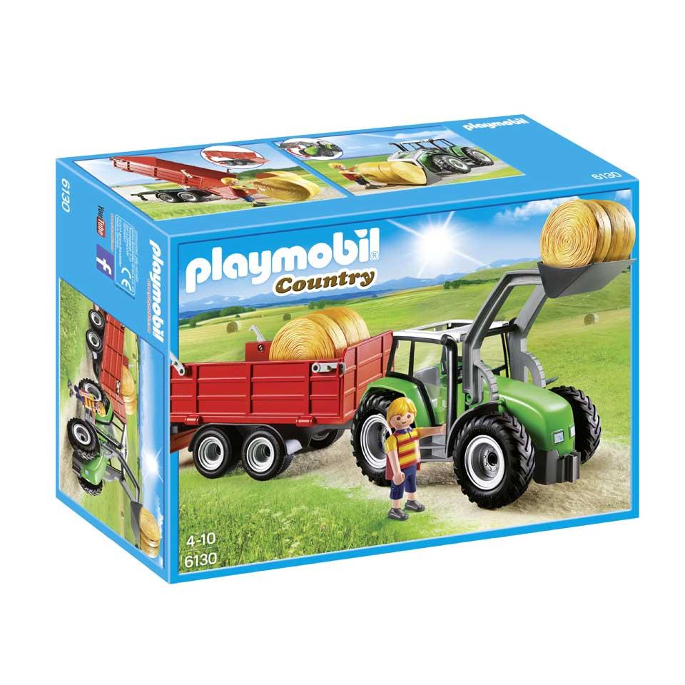 PLAYMOBIL Country tractor met aanhangwagen 6130
