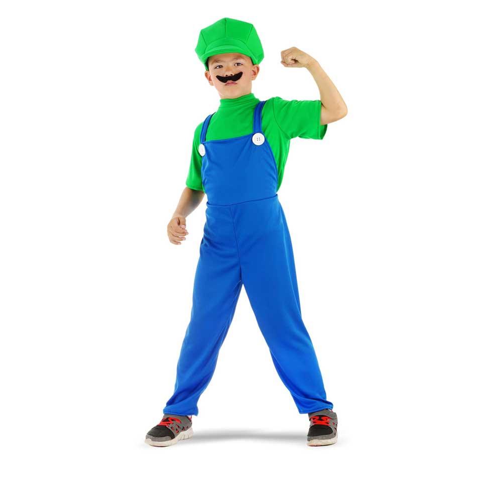 Super Loodgieter kostuum - maat 134/152 - groen