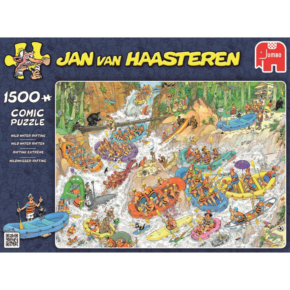 Jumbo Jan van Haasteren puzzel Wild water raften - 1500 stukjes