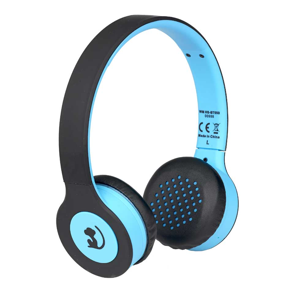 Wonky Monkey Wireless Bluetooth koptelefoon - blauw/zwart