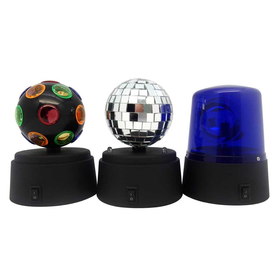 Mini disco lampen set van 3