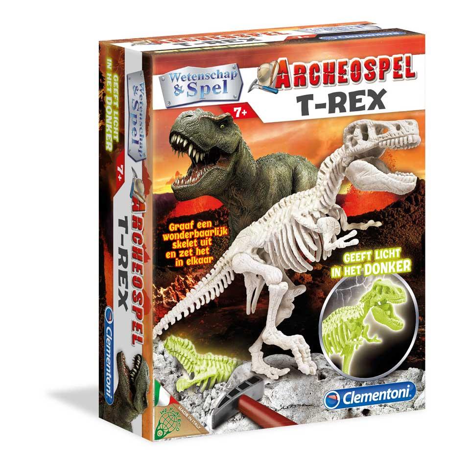 Clementoni Archeospel T-rex fluoriserend