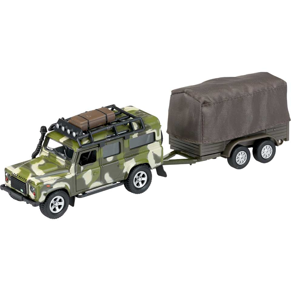 Kids Globe Traffic Welly Landrover - bruin
