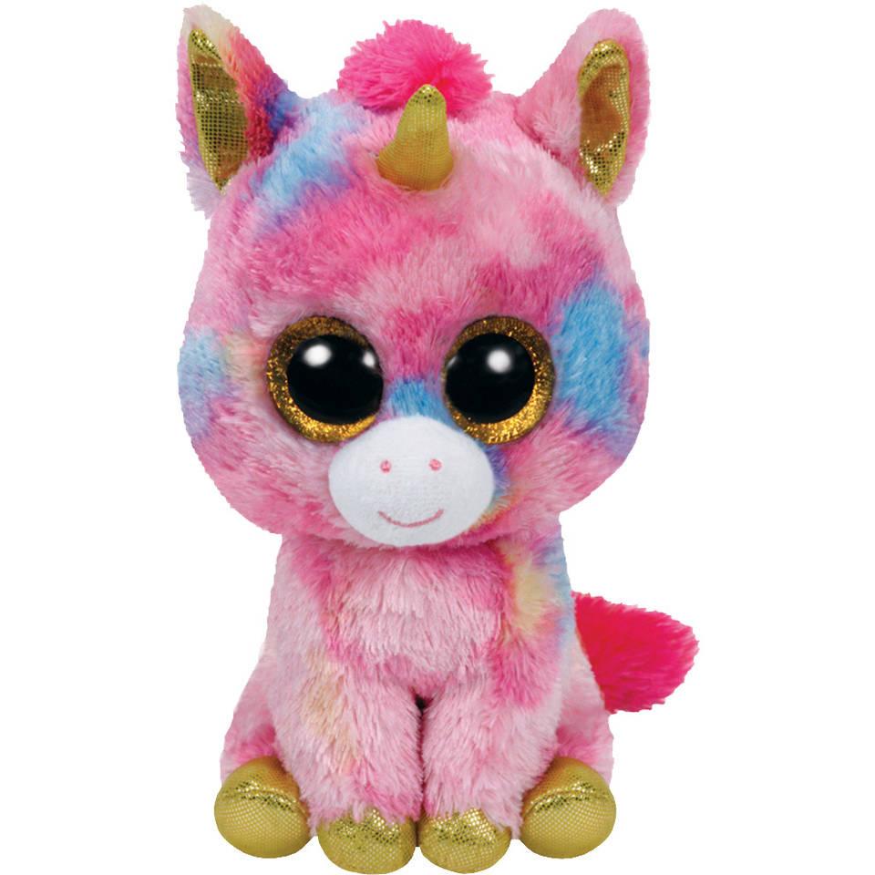 Ty Beanie Boo XL knuffel eenhoorn Fantasia - 42 cm