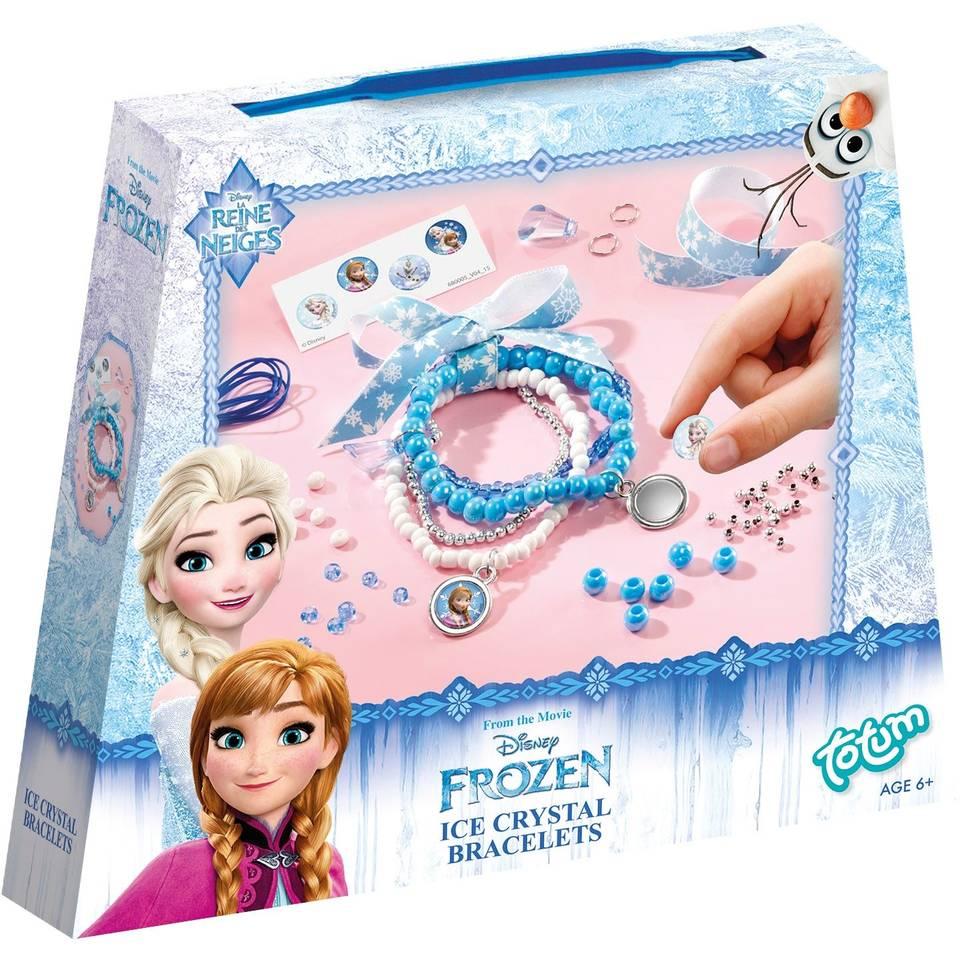 Disney Frozen ijskristallen armbandenset - blauw/paars/roze