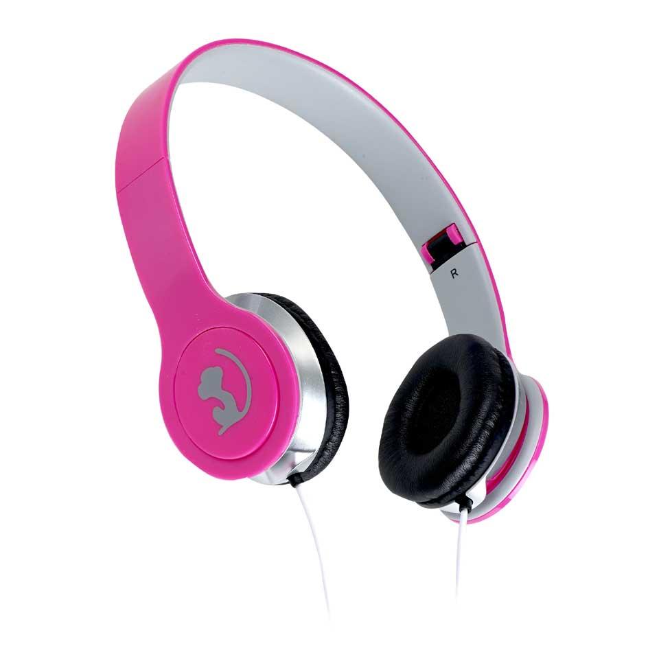 Wonky Monkey opvouwbare koptelefoon - roze
