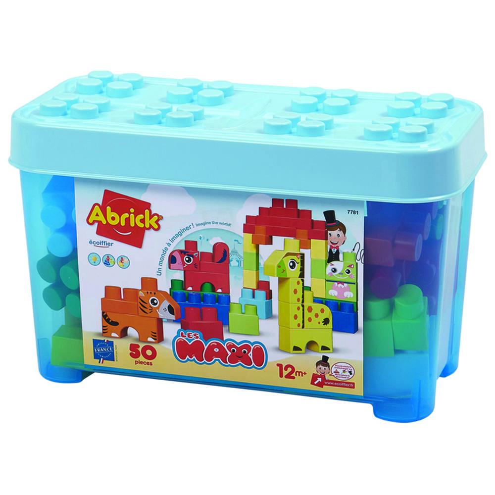 Abrick maxi blauw dierenbox 50-delig