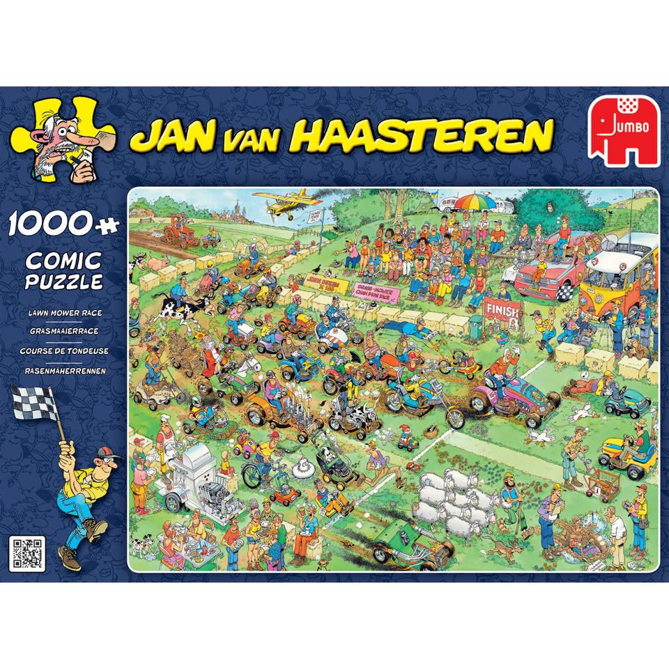 Jumbo Jan van Haasteren puzzel Grasmaaierrace - 1000 stukjes