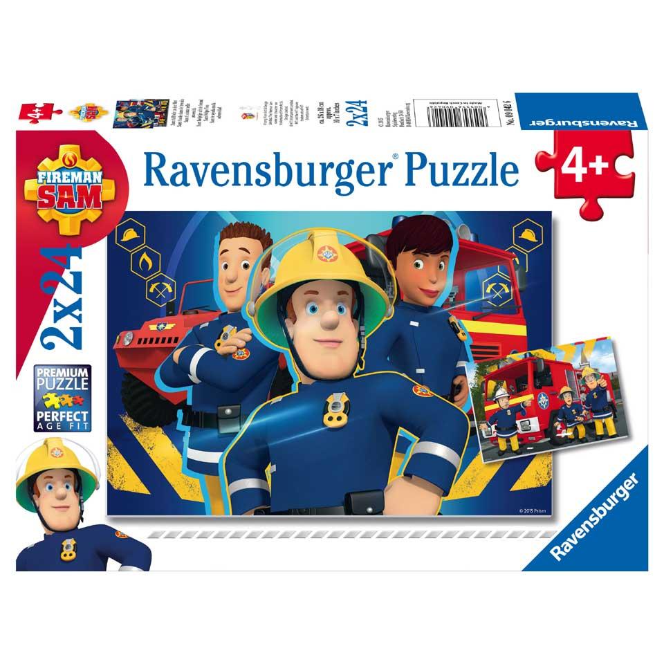 Ravensburger Brandweerman Sam puzzels Sam helpt je uit de brand - 2 x 24 stukjes