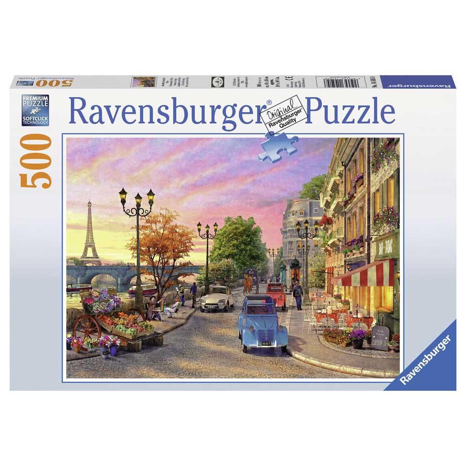 Ravensburger puzzel Avondsfeer in Parijs - 500 stukjes