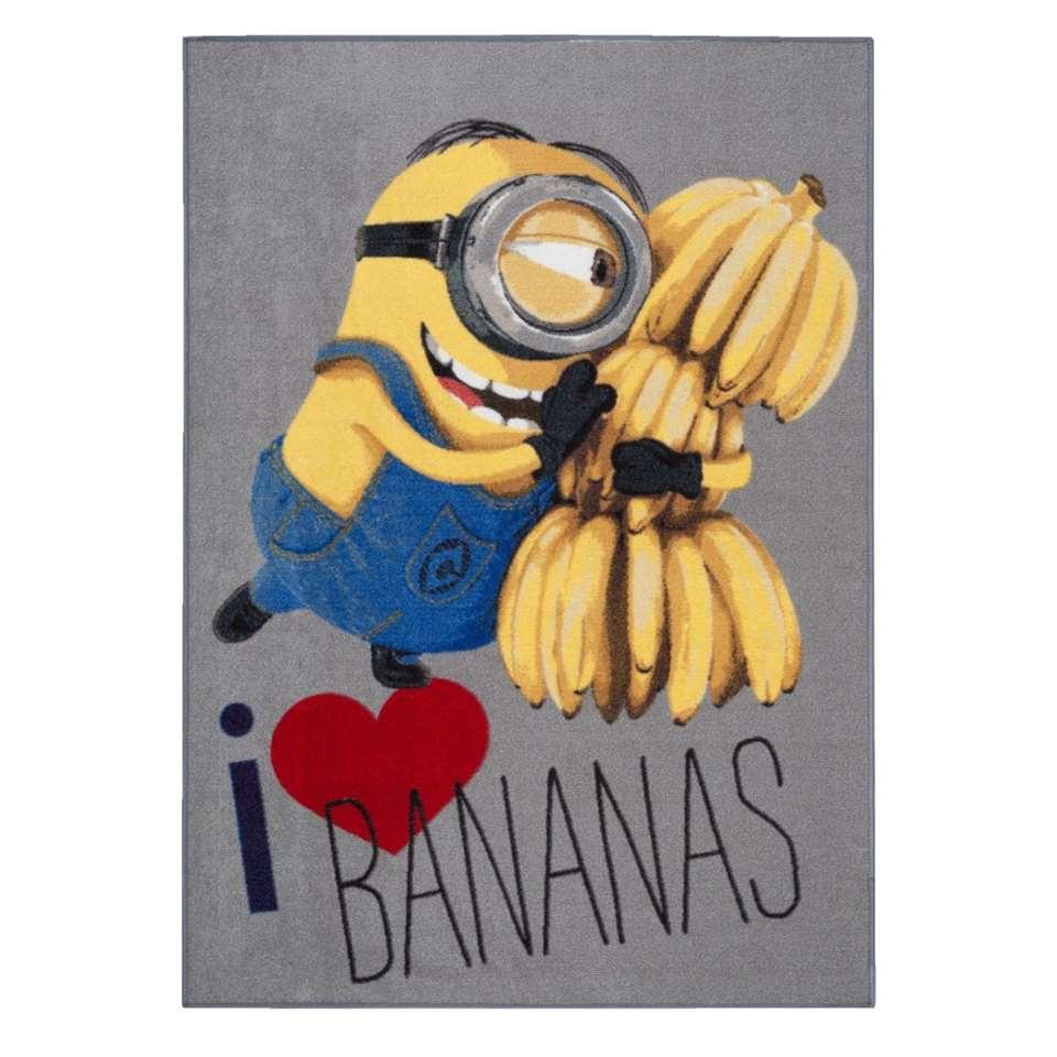 Vloerkleed Minions love bananas - 95x133 cm