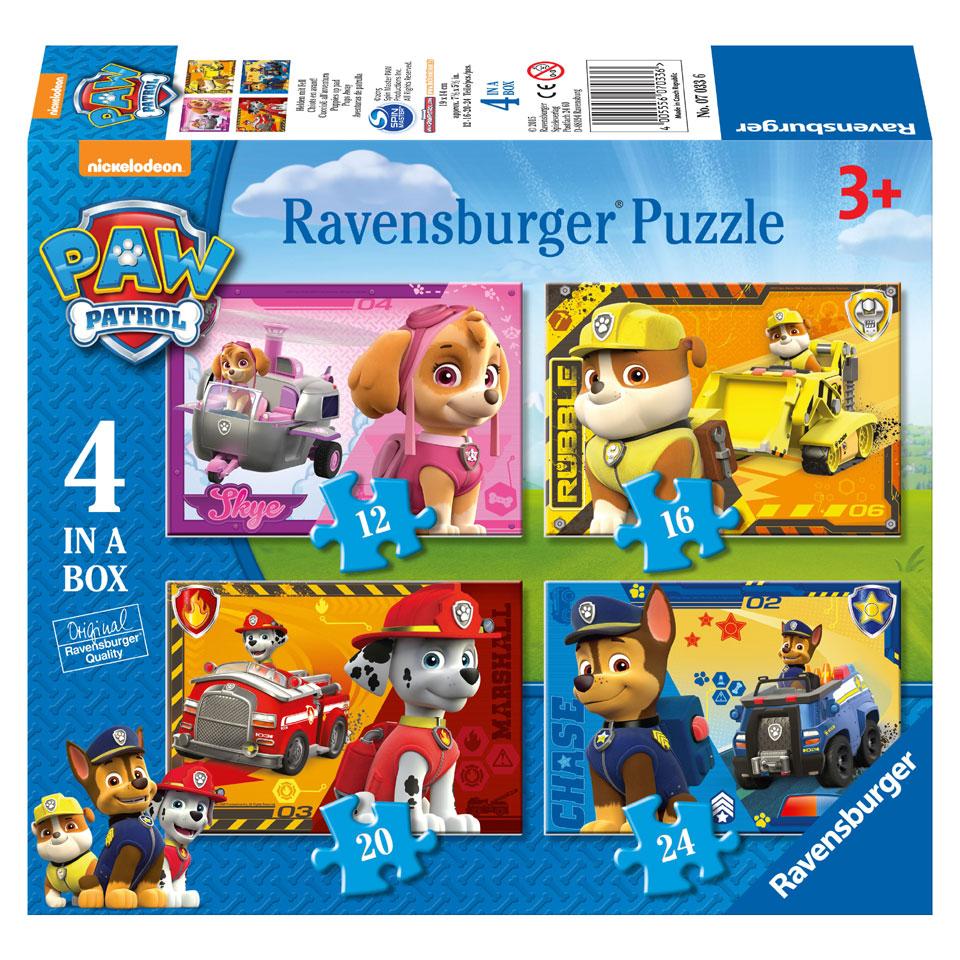 Ravensburger PAW Patrol puzzelset Puppies op pad - 12 + 16 + 20 + 24 stukjes