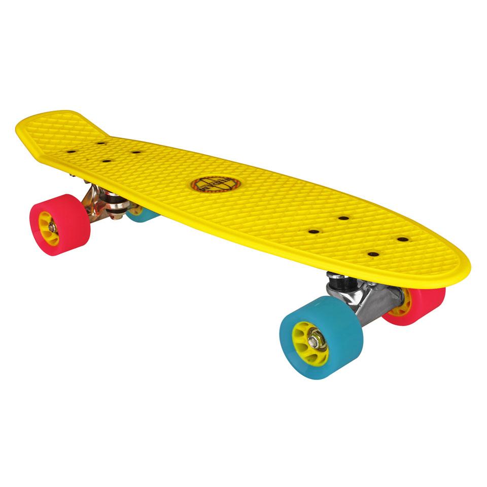 Nijdam plastic skateboard - 22,5 inch - geel