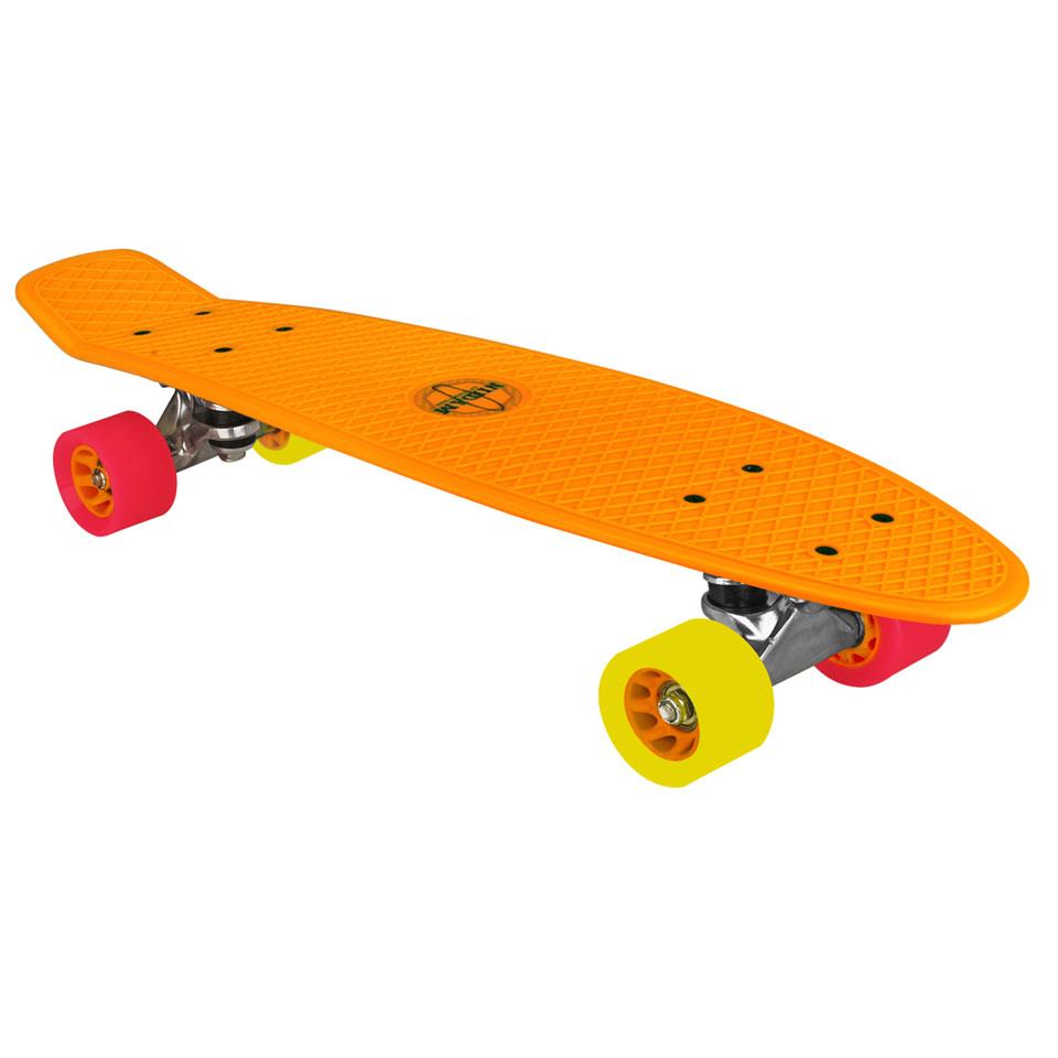 Nijdam plastic skateboard - 22,5 inch - oranje
