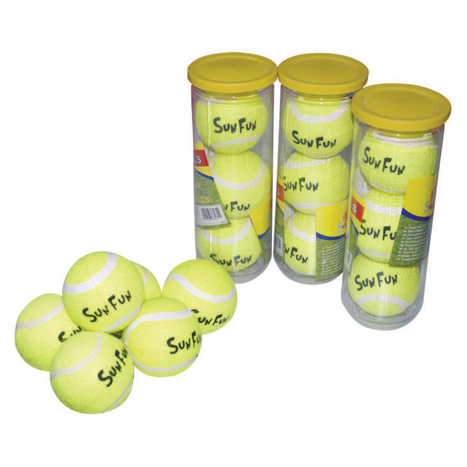 Tennisballen in koker - 3 stuks