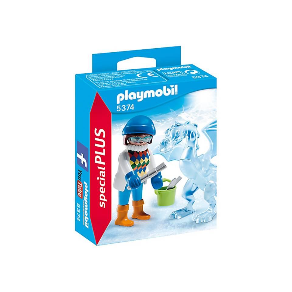 PLAYMOBIL SpecialPLUS artieste met ijssculptuur 5374