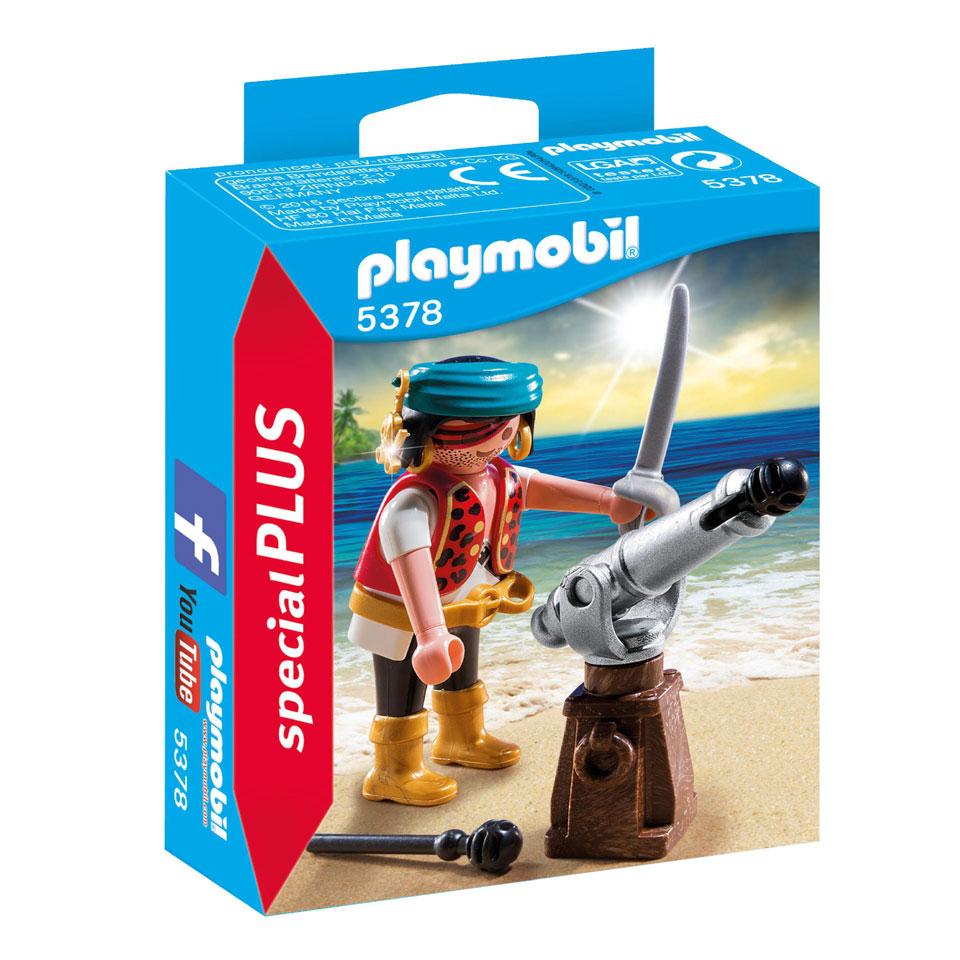 PLAYMOBIL SpecialPLUS piraat met bronzen scheepskanon 5378