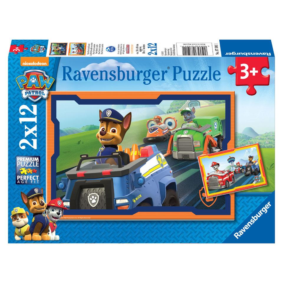 Ravensburger PAW Patrol puzzelset PAW Patrol in actie - 2 x 12 stukjes