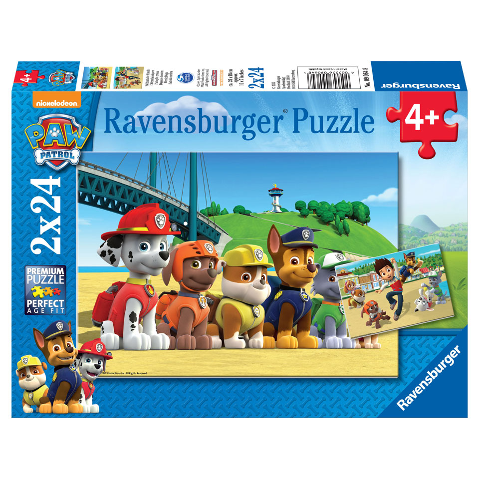 Ravensburger PAW Patrol puzzelset Dappere honden - 2 x 24 stukjes