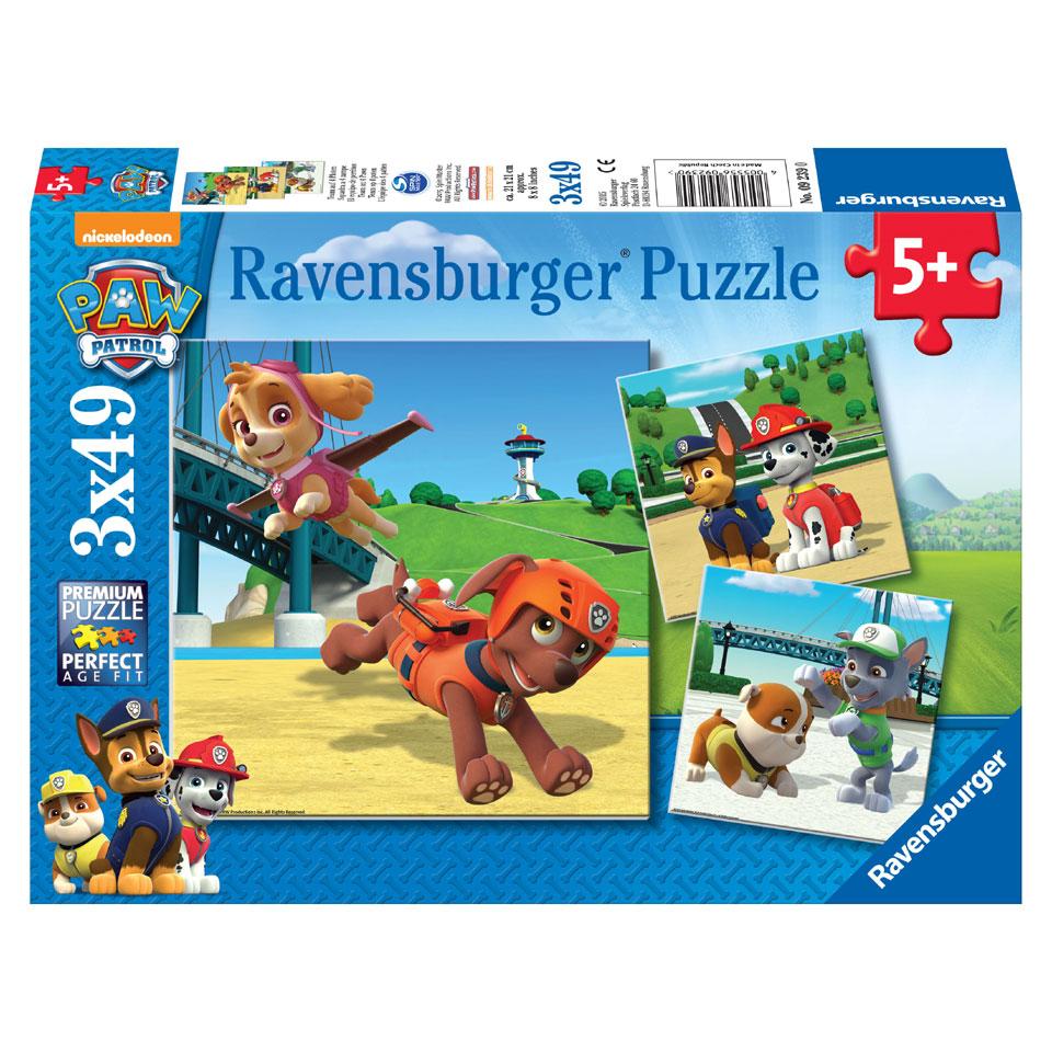 Ravensburger puzzelset PAW Patrol Team op 4 poten - 3 x 49 stukjes