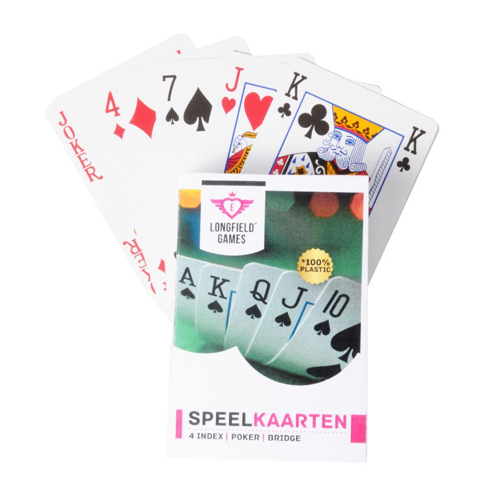 Speelkaarten Longfield geplastificeerd