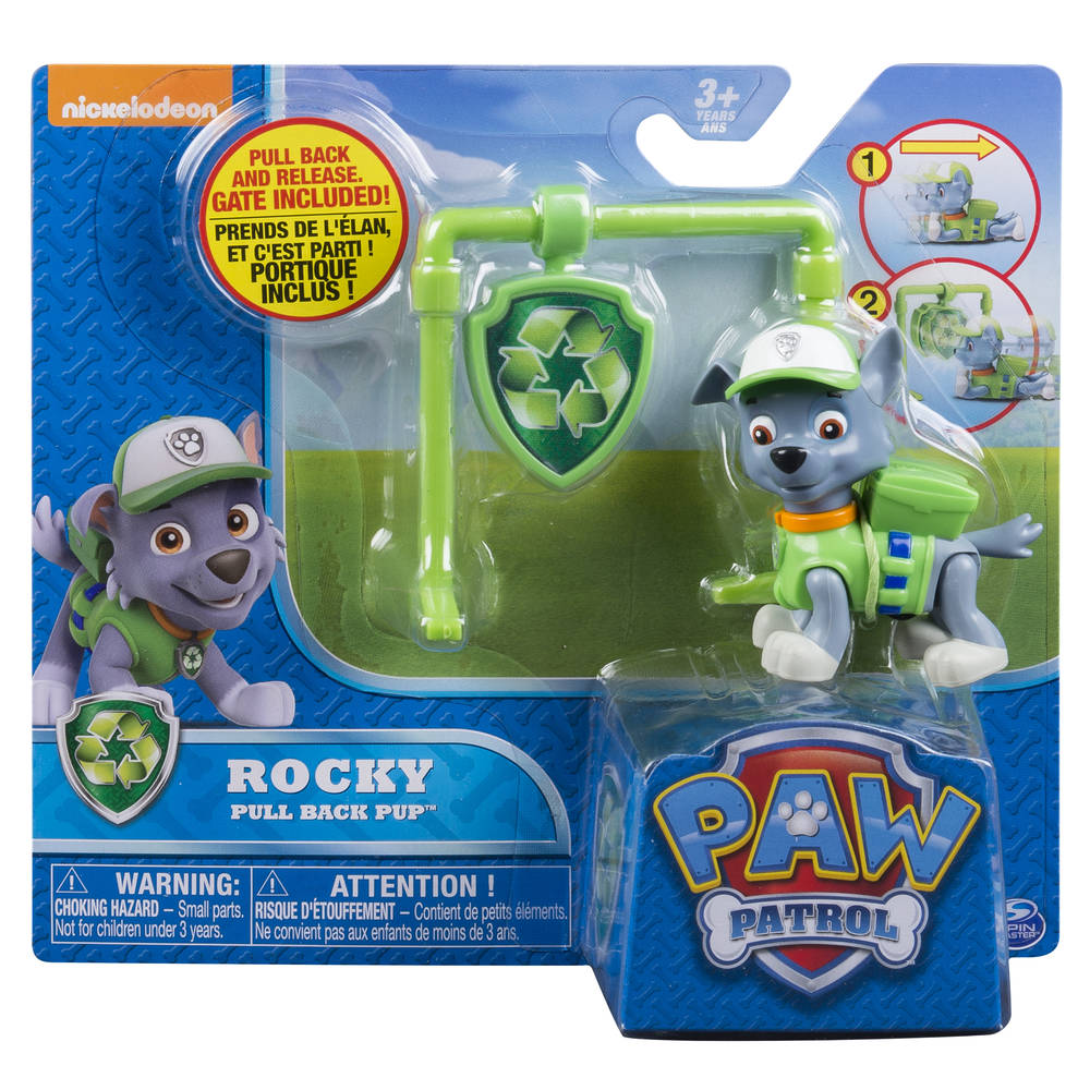 PAW Patrol Pull Back Pups Rocky