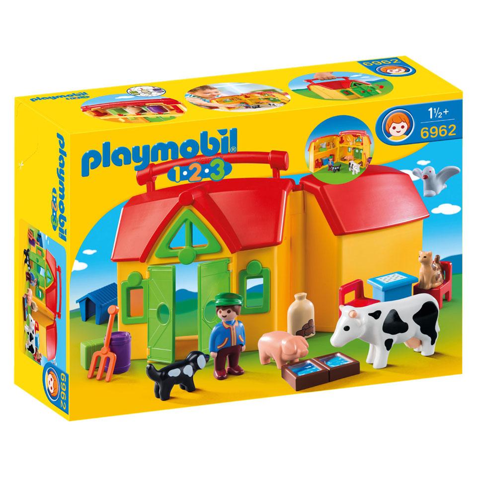 PLAYMOBIL 1.2.3 meeneemboerderij met dieren 6962