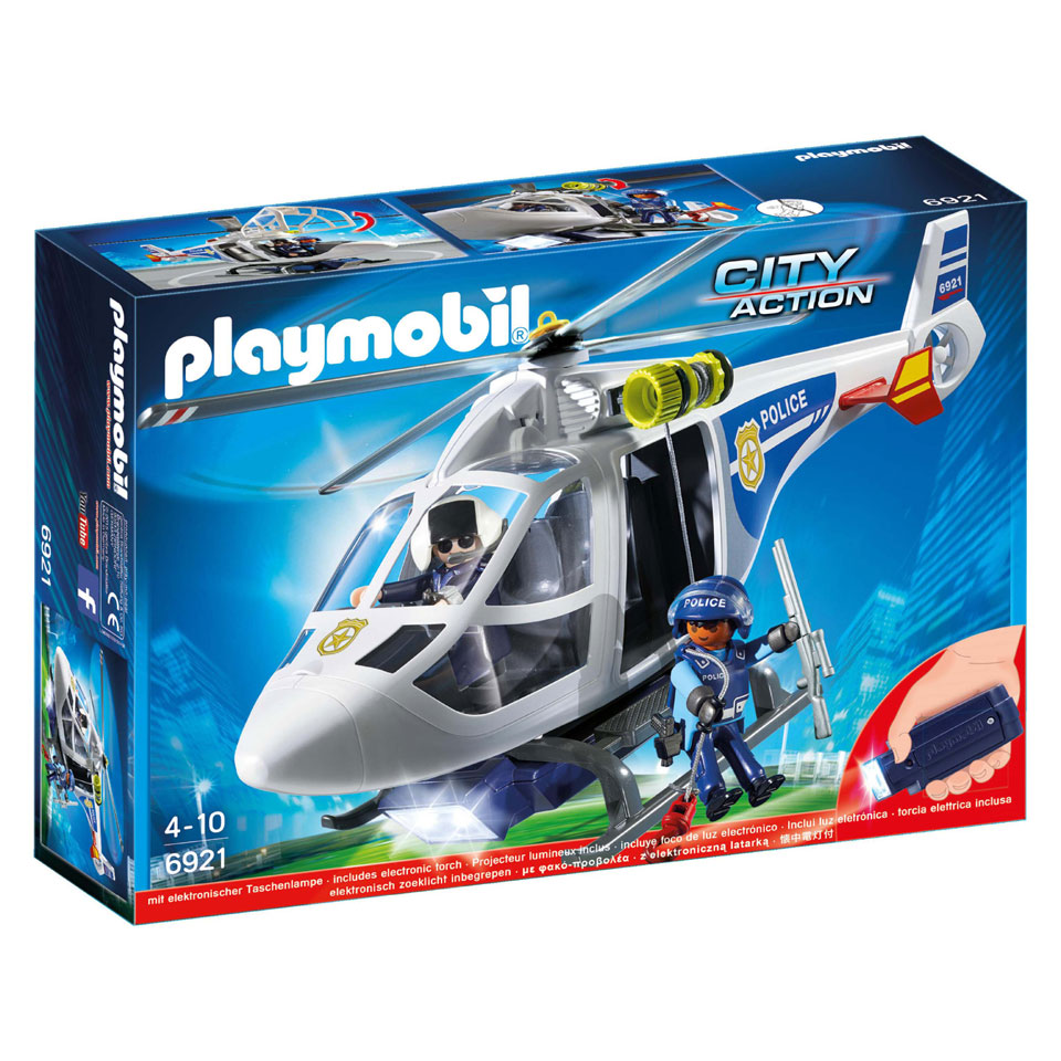 PLAYMOBIL City Action politiehelikopter met LED-zoeklicht 6921