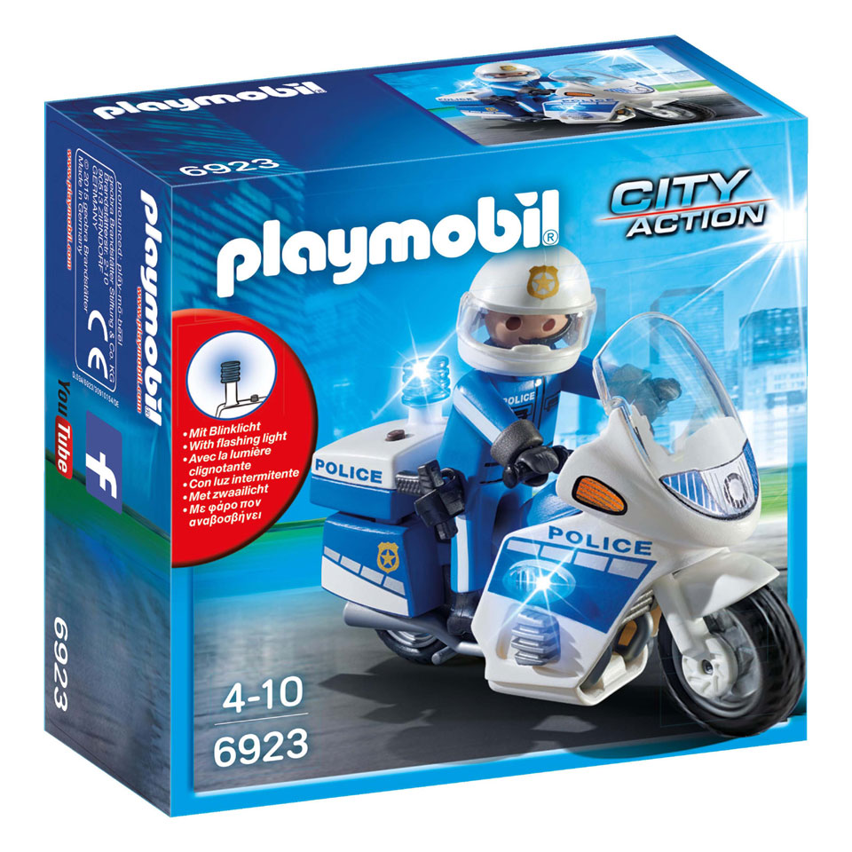 PLAYMOBIL City Action politiemotor met LED-licht 6923