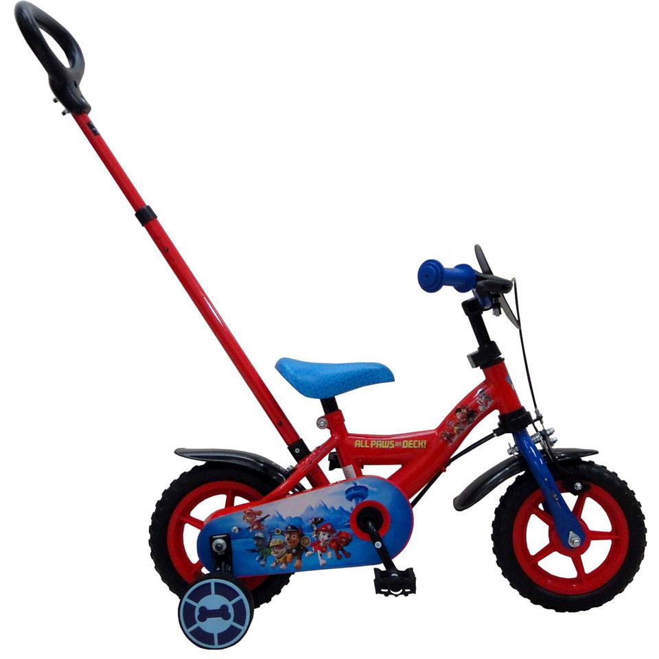 Yipeeh PAW Patrol Deluxe jongensfiets - 10 inch - rood/blauw