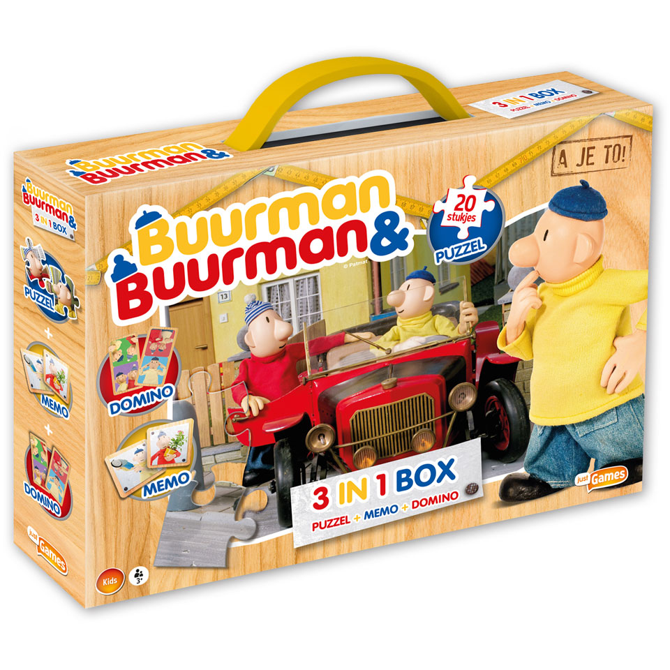 Buurman & Buurman spellenbox 3-in-1
