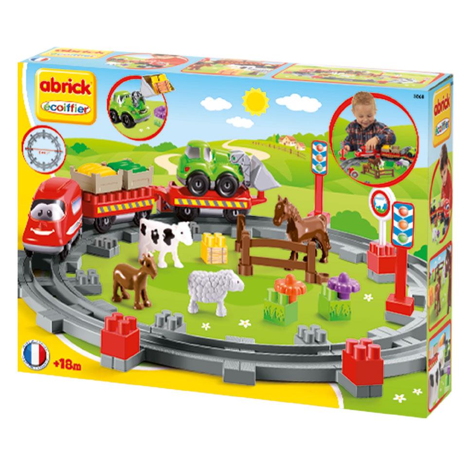 Abrick treinset met dieren