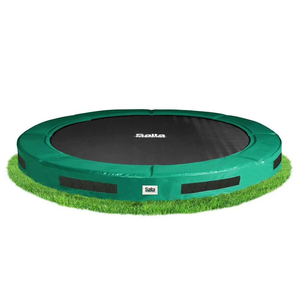 Salta Excellent Ground verlaagde trampoline rond - 183 cm - groen