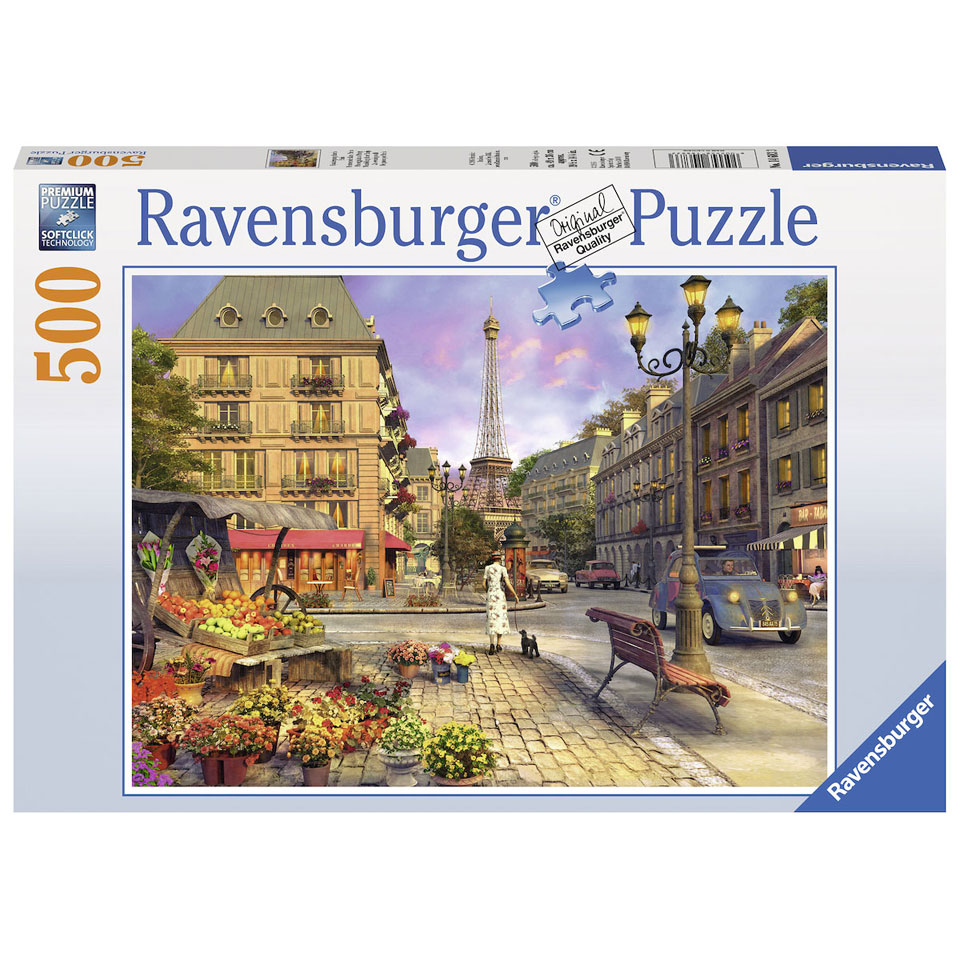 Ravensburger puzzel Wandeling door Parijs - 500 stukjes