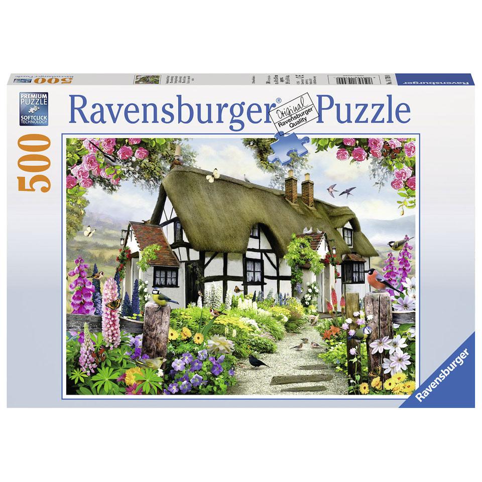 Ravensburger puzzel Idyllische cottage - 500 stukjes