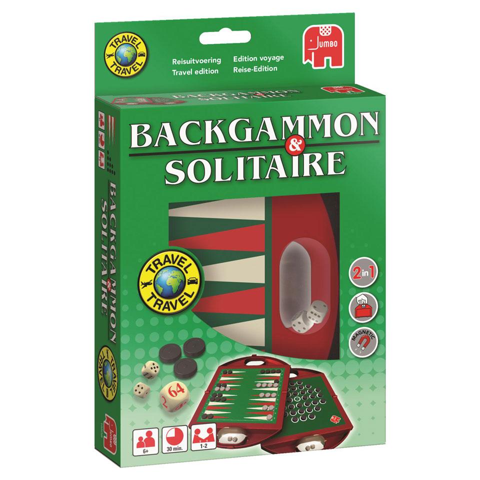 Jumbo Backgammon & Solitaire reisspel