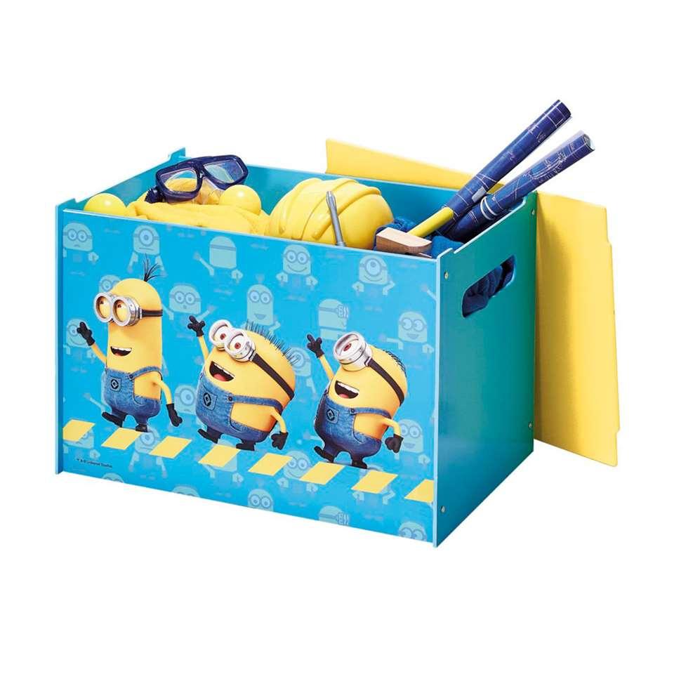 Minions speelgoedkist - blauw/geel